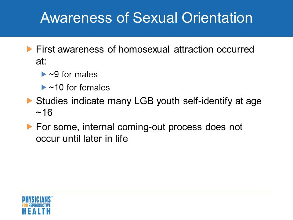 Studies indicate that sexual orientation is not