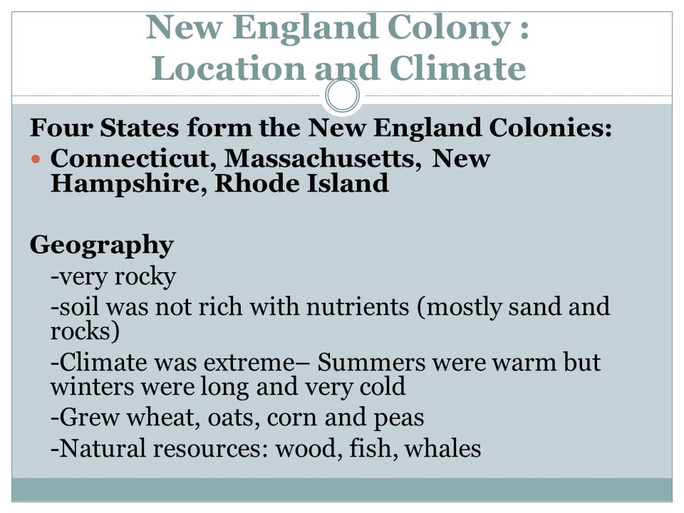 how did geography affect the southern colonies
