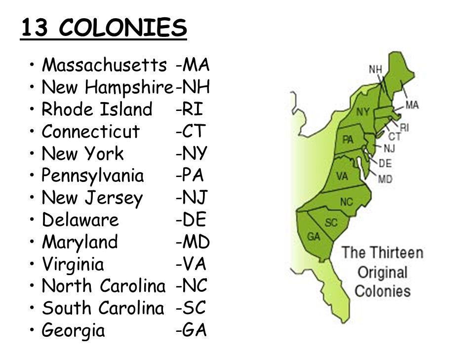 48 13 COLONIES Massachusetts ...
