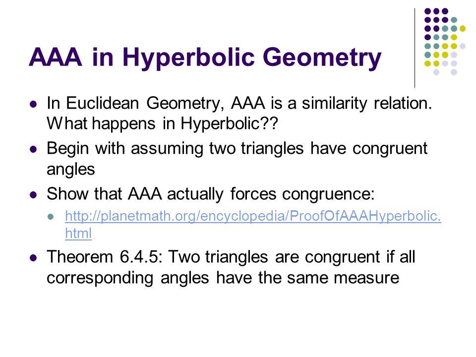 Chapter 6-Non-Euclidean Geometries