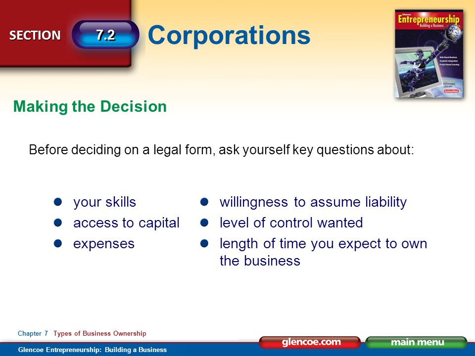 Making the Decision your skills access to capital expenses