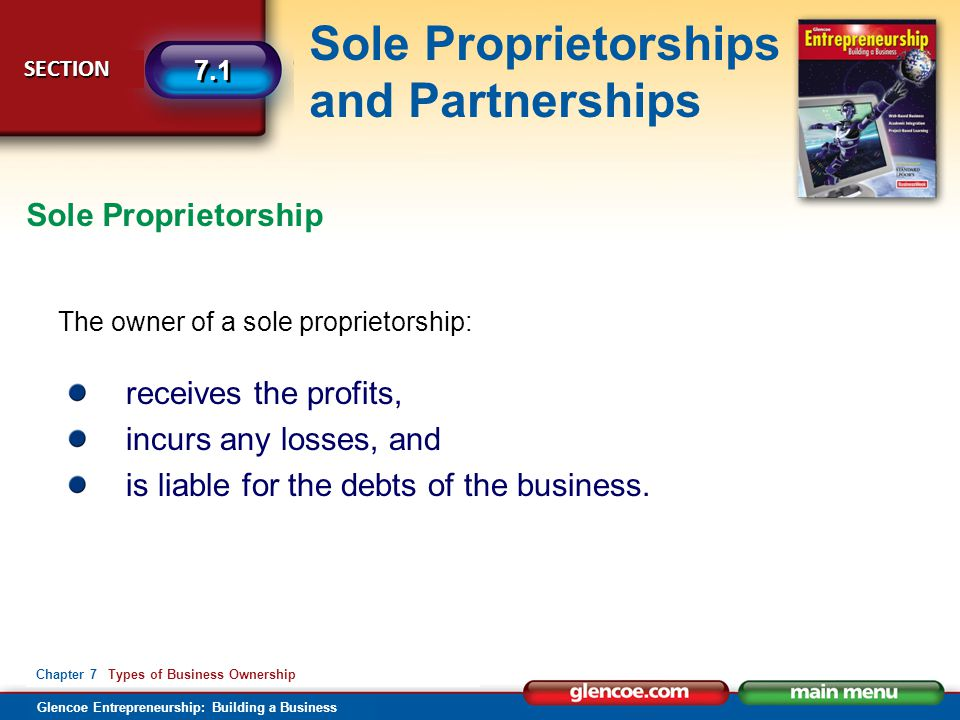 is liable for the debts of the business.