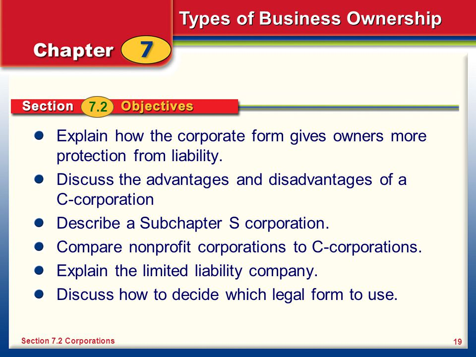 Discuss the advantages and disadvantages of a C-corporation