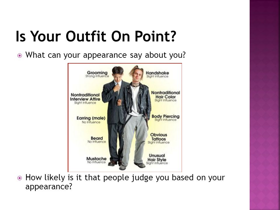 Is Your Outfit On Point What can your appearance say about you