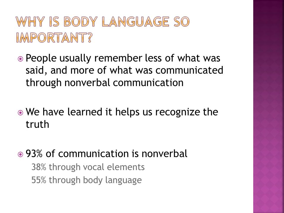 Why is Body Language so Important