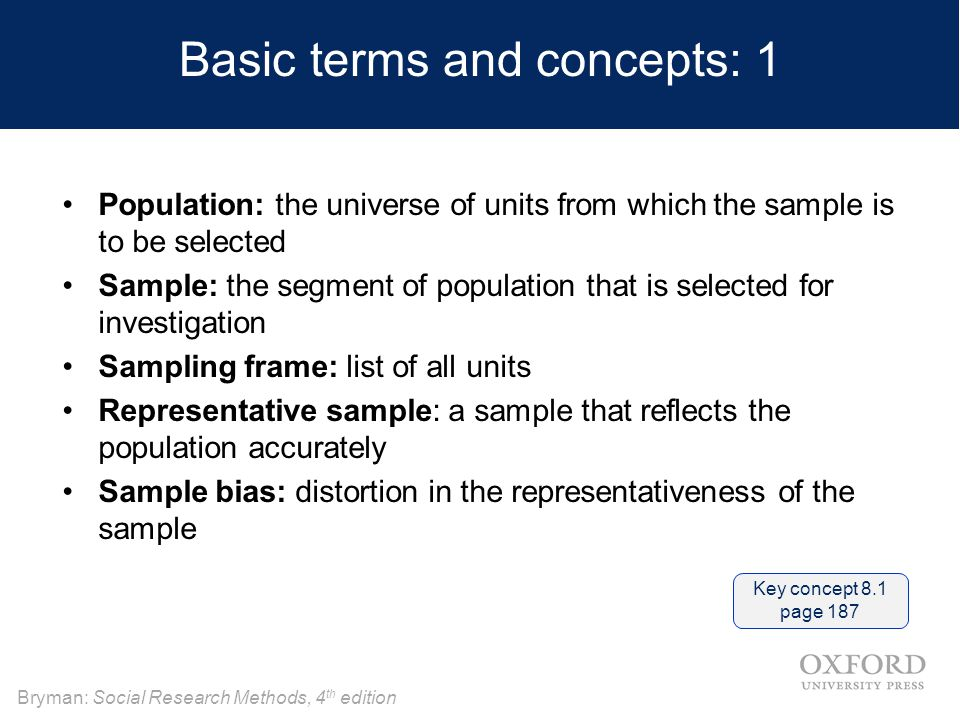 sampling in research methods Sampling and types of sampling methods commonly used in quantitative research are discussed in the following module researchers commonly examine traits or characteristics (parameters) of populations in their studies a population is a group of individual units with some commonality.
