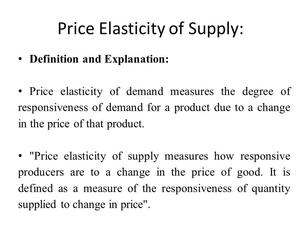 Elasticity What Is Price Elasticity Of Demand Definition Ppt