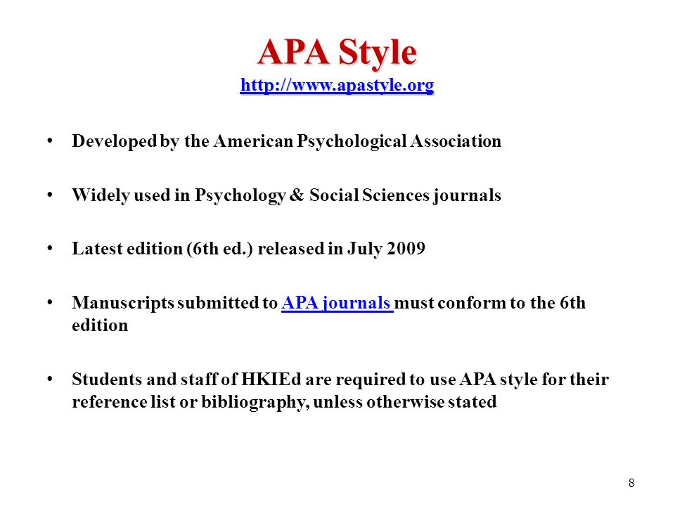library workshop for edd and rpg students learning apa style and