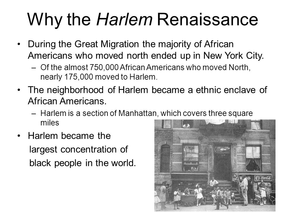 Why the Harlem Renaissance