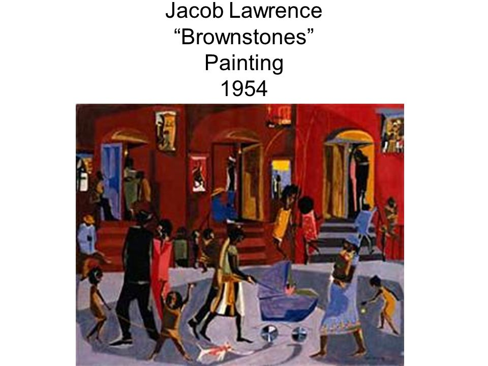 Jacob Lawrence Brownstones Painting 1954