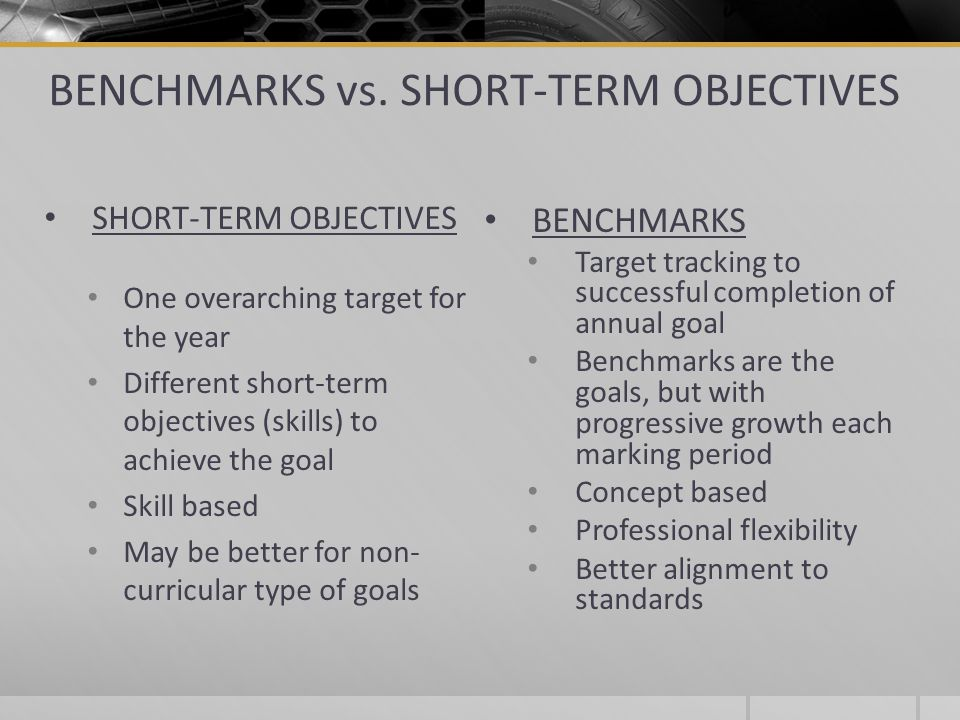 Writing Measurable Annual Goals And Benchmarks Short Term