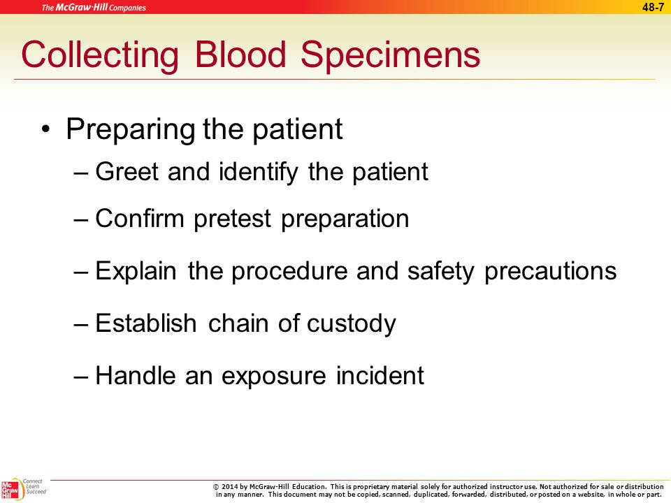 Collecting Processing And Testing Blood Specimens Ppt Download