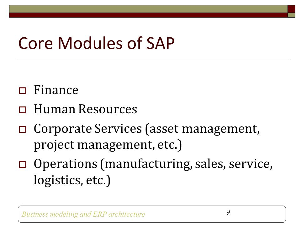 Core Modules of SAP Finance Human Resources