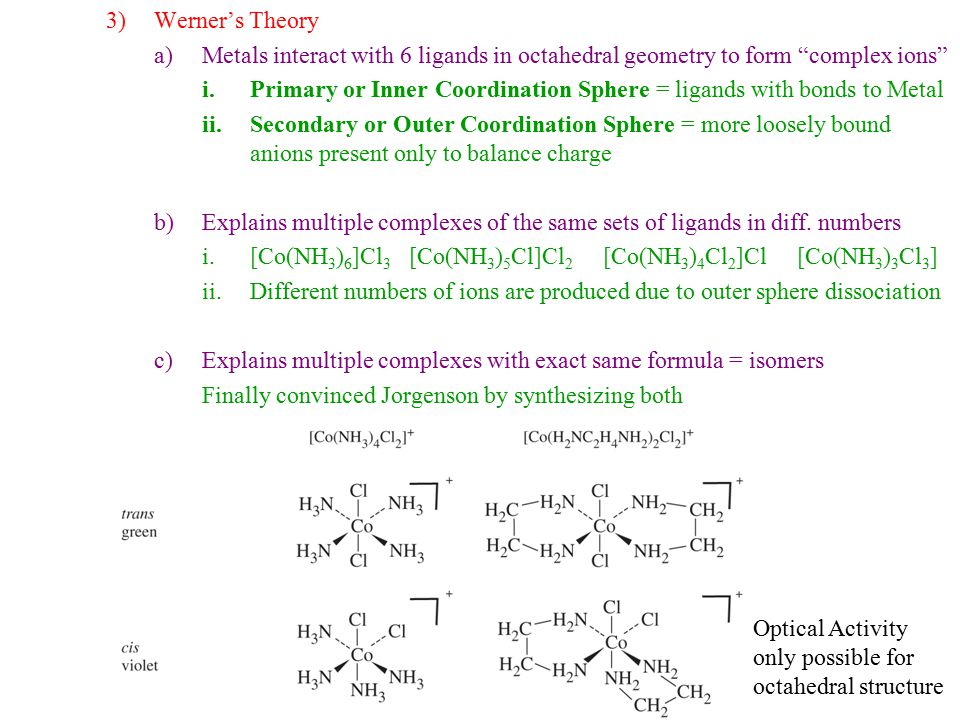 Chapter 9 Lecture 1 Coordination Chemistry Structure Ppt