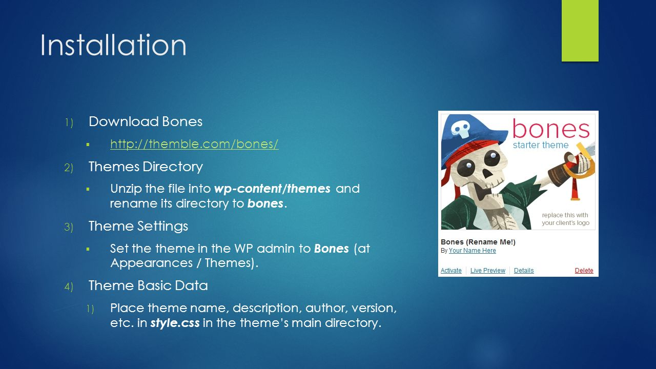 Bones – HTML5 Wordpress Theme Development - ppt video online