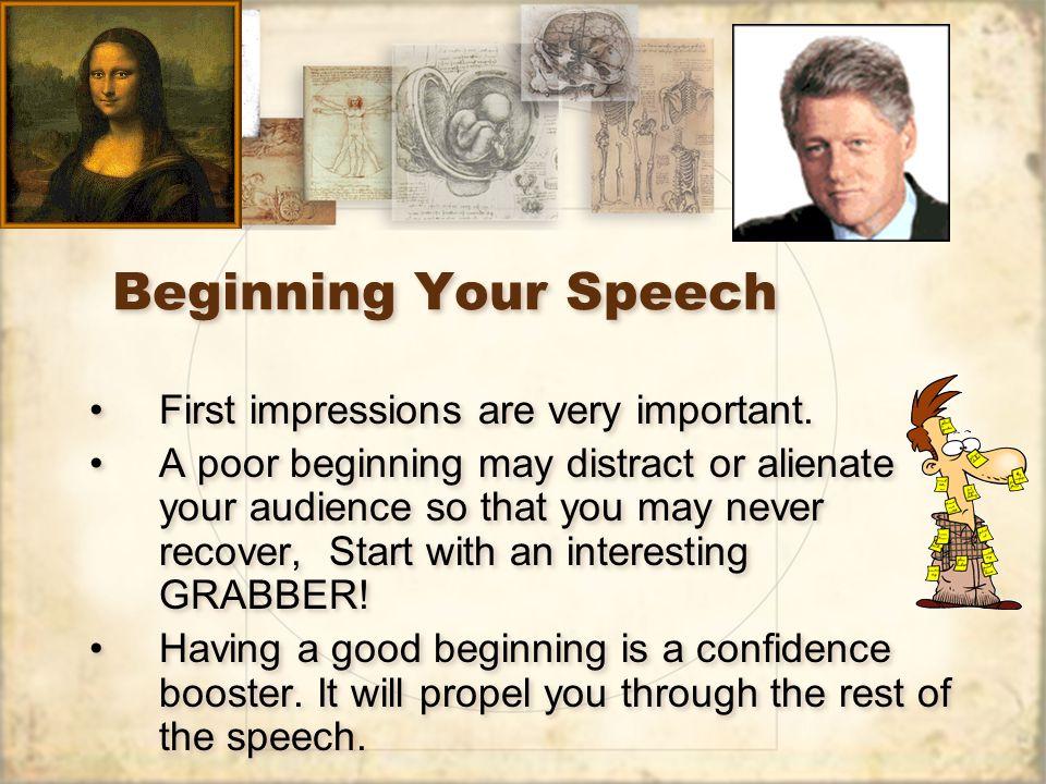 writing a good speech