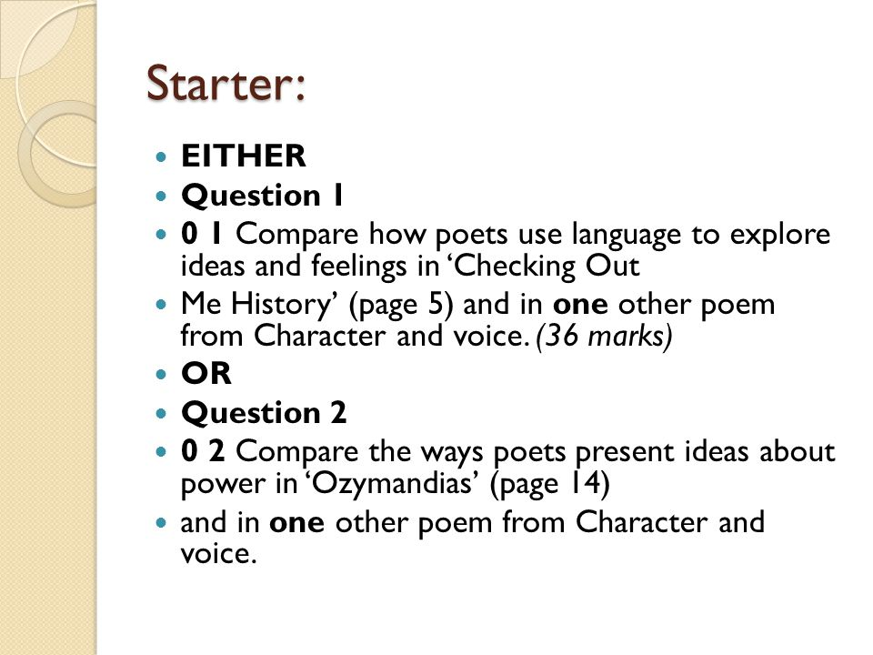 Moon on the Tides' Mock poetry Exam Question - ppt video