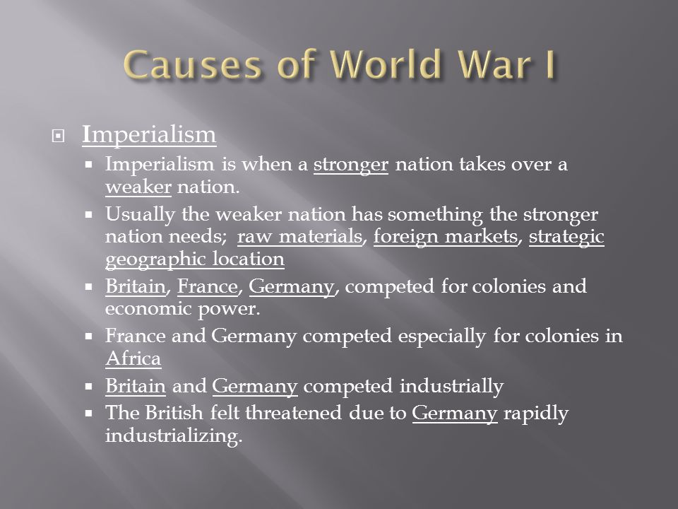 the top 5 causes of world war i thoughtco - 960×720