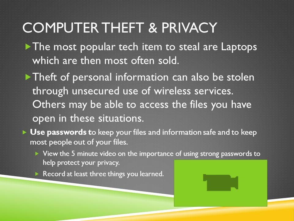 Computer Theft & Privacy