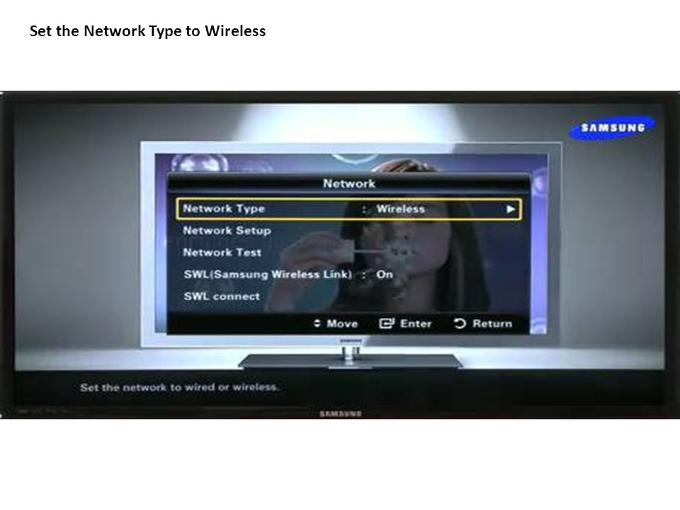 Set the Network Type to Wireless
