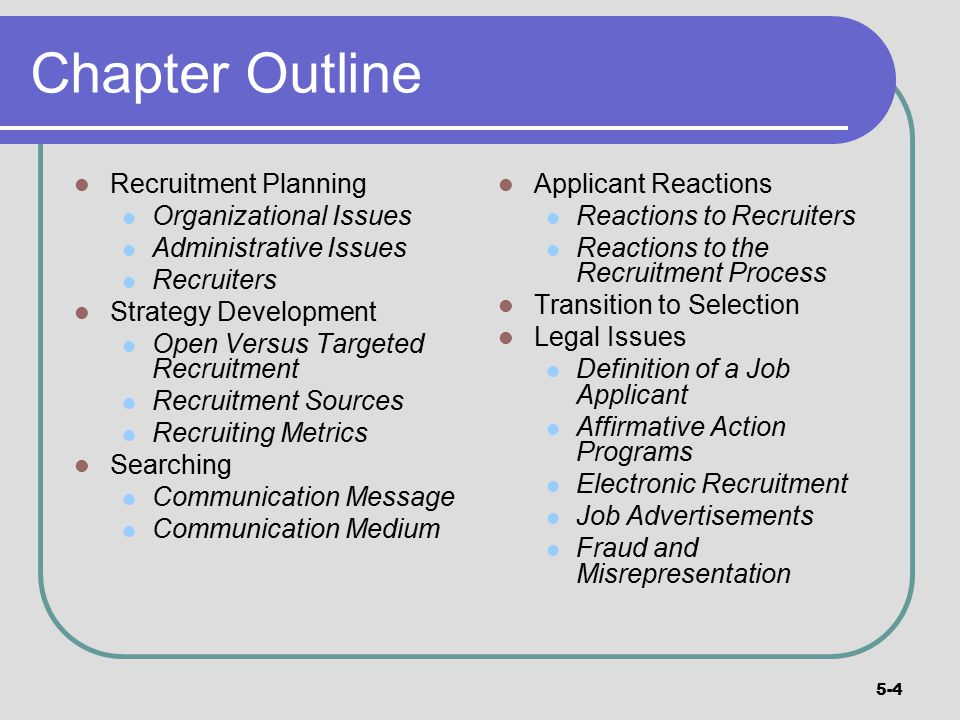 recruiting guide outline