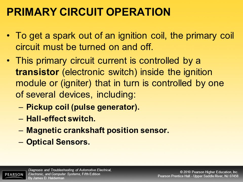 PRIMARY CIRCUIT OPERATION