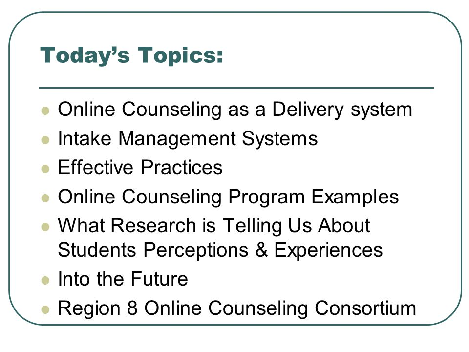 counseling research topics