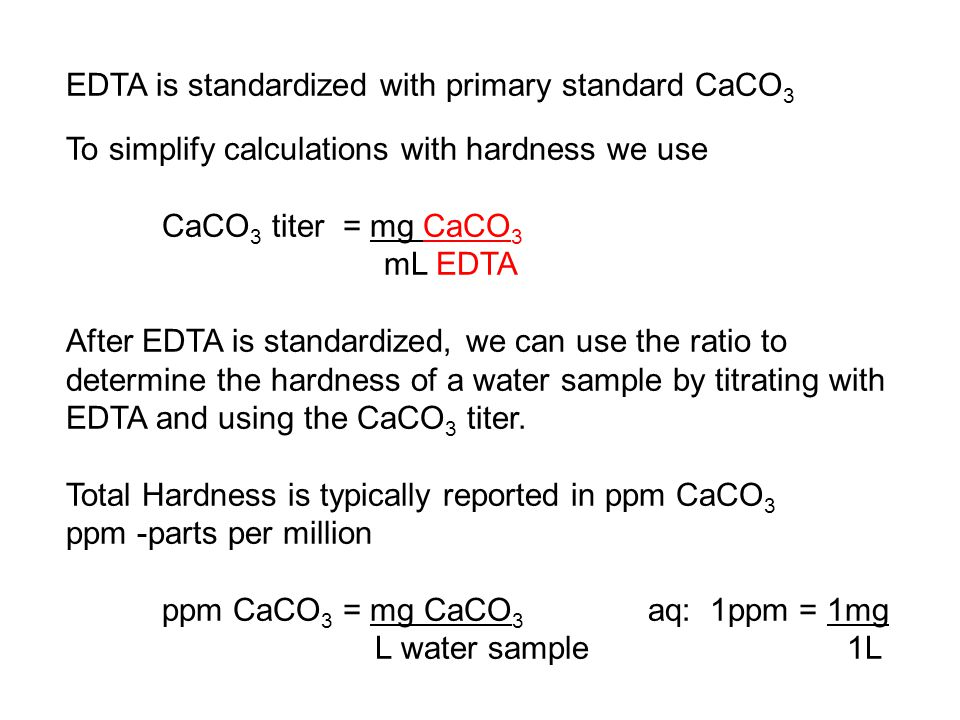 edta titration of ca2  and mg2  in natural waters calculations