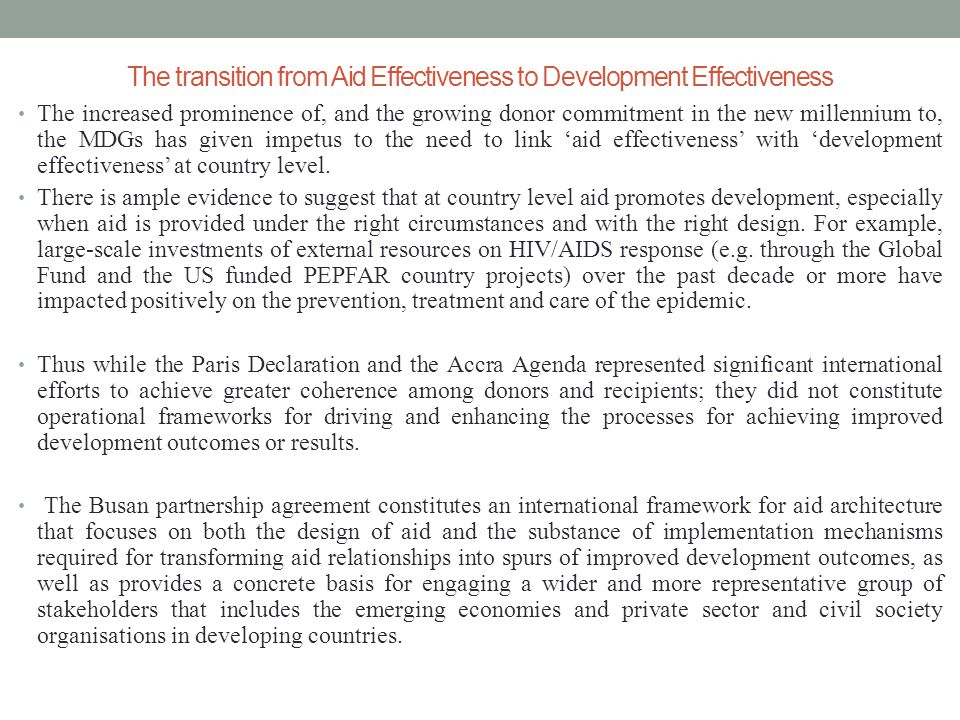 Aid Effectiveness And Health Sector Development In Bangladesh By