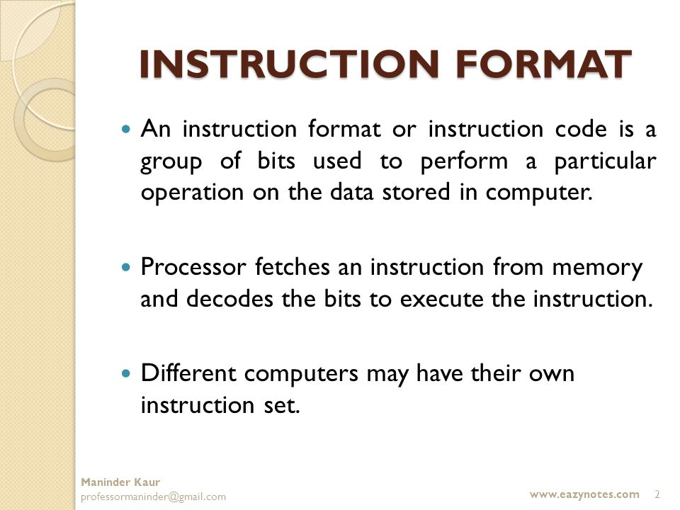 Computer Instructions Ppt Video Online Download