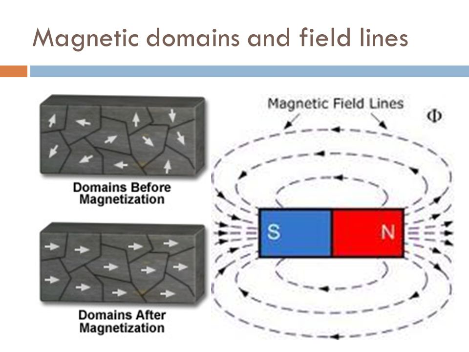 Magnetic domains and field lines