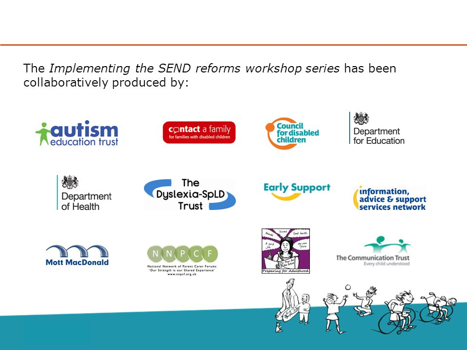 The Implementing the SEND reforms workshop series has been collaboratively produced by: