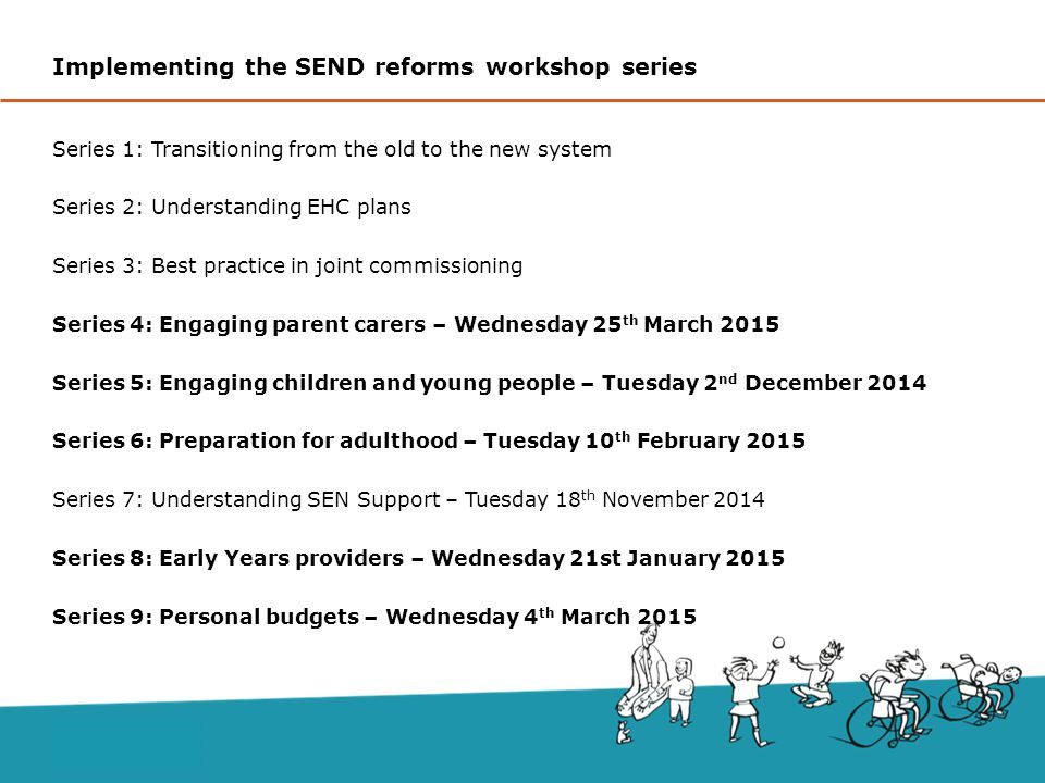 Implementing the SEND reforms workshop series