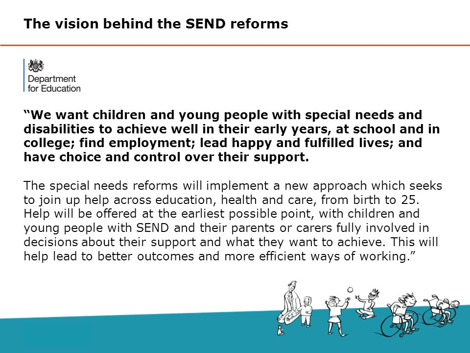 The vision behind the SEND reforms