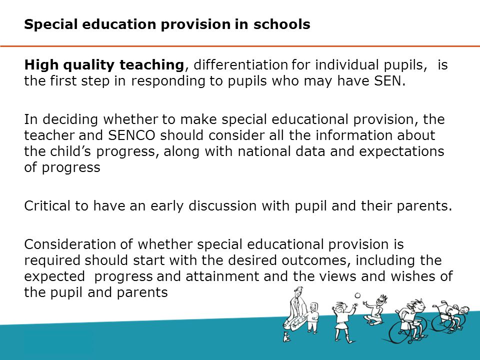 Special education provision in schools
