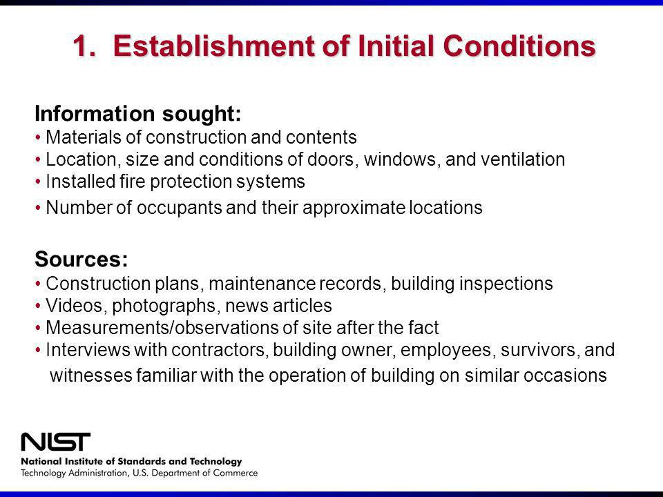 1. Establishment of Initial Conditions