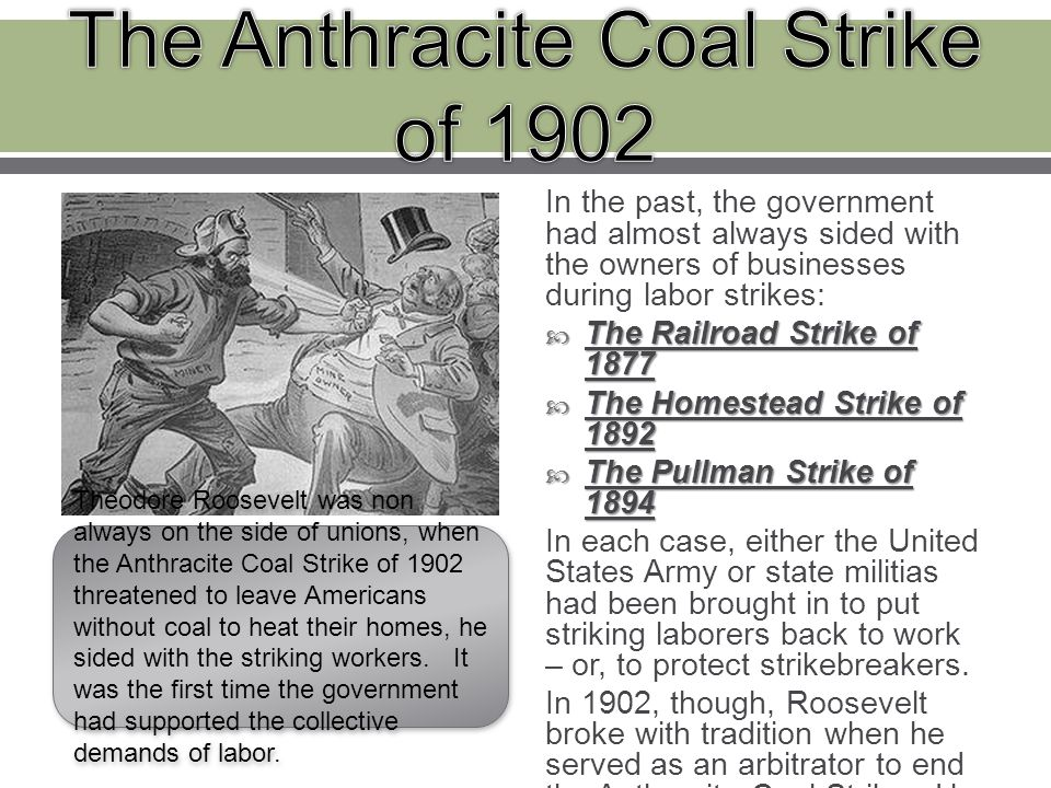 the anthracite coal strike