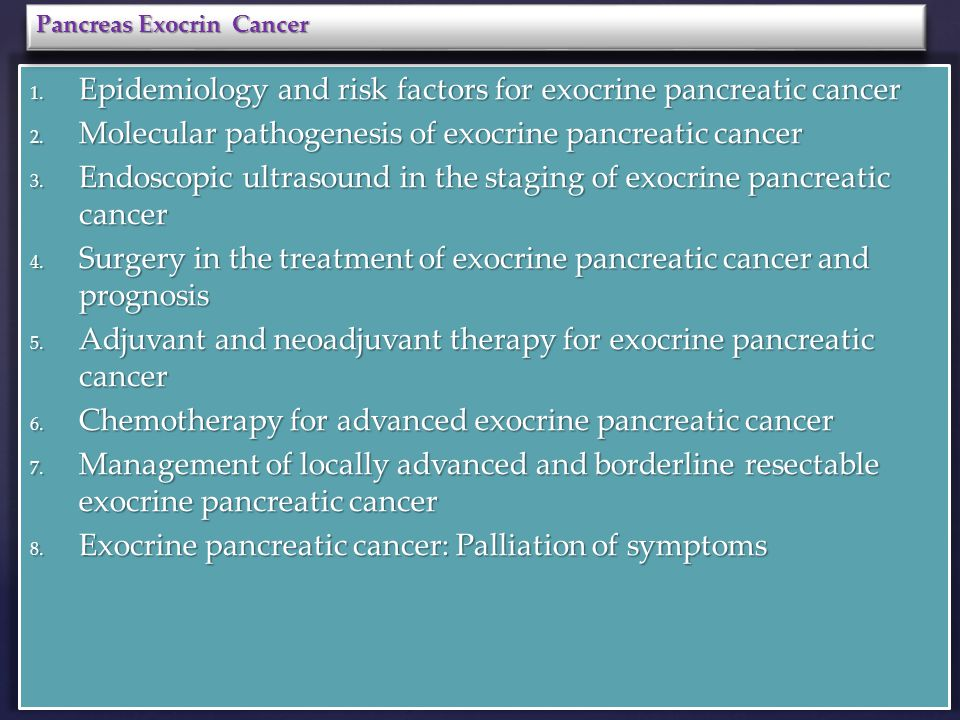 Pancreas CANCER  - ppt download