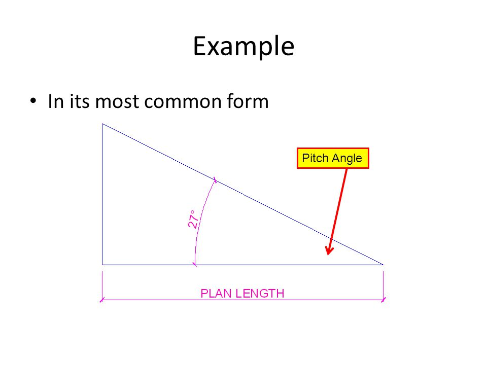 5 example in its most common form pitch angle - Roof Pitch Angle