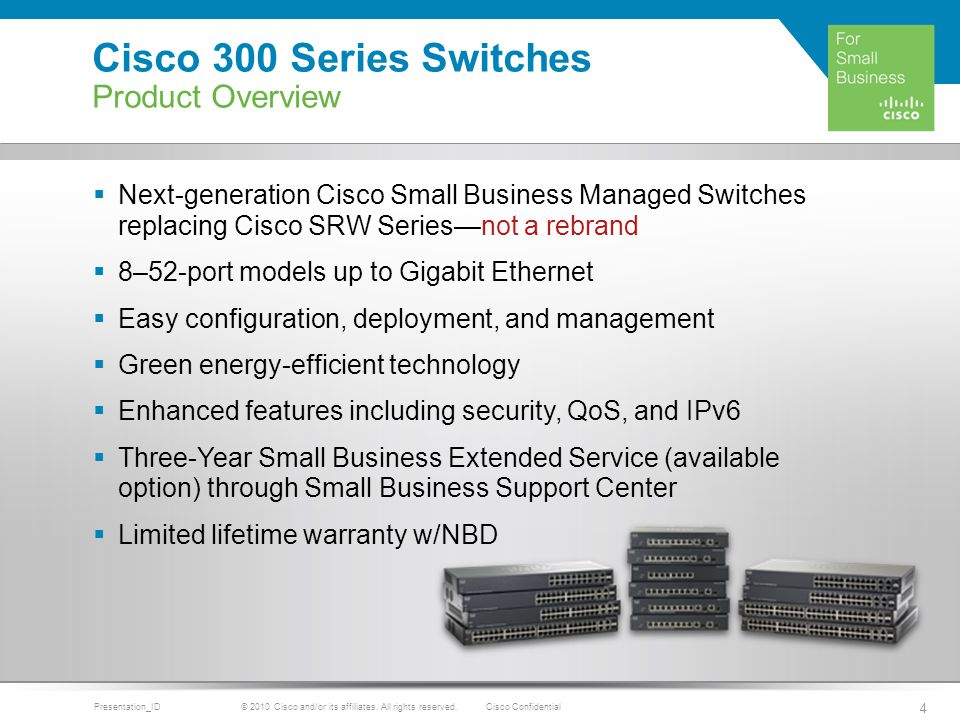 Cisco 300 Series Switches Cisco Small Business - ppt download