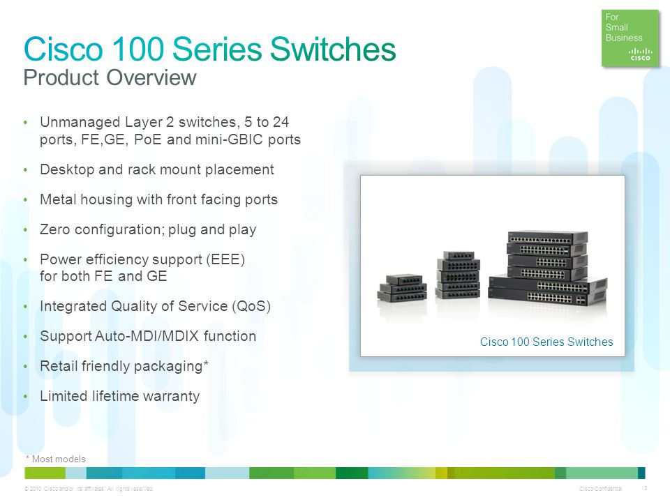 Cisco 100 Series Unmanaged Switches - ppt video online download