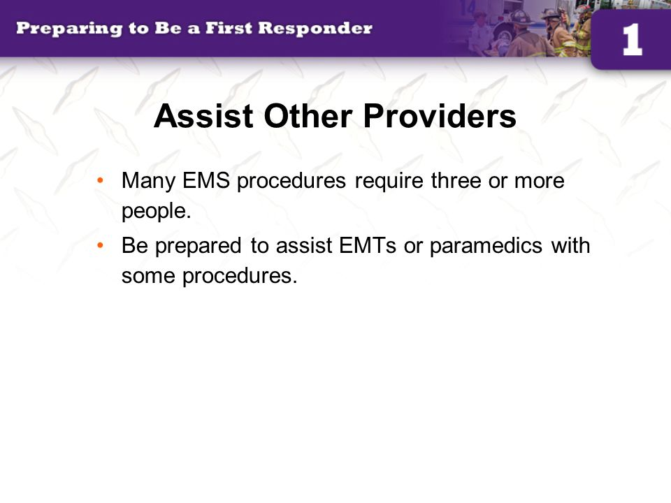 Assist Other Providers