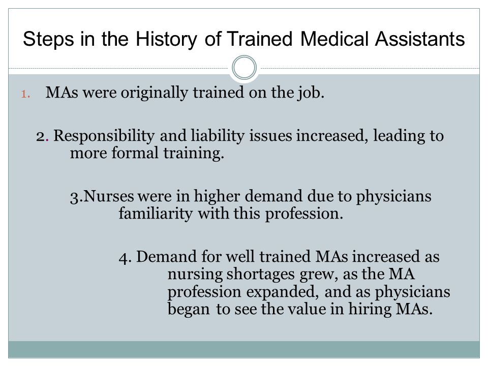 history of medical assisting as a profession