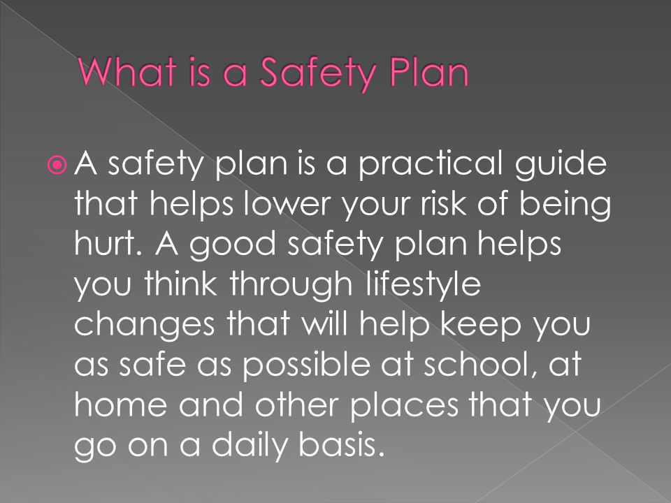 What is a Safety Plan