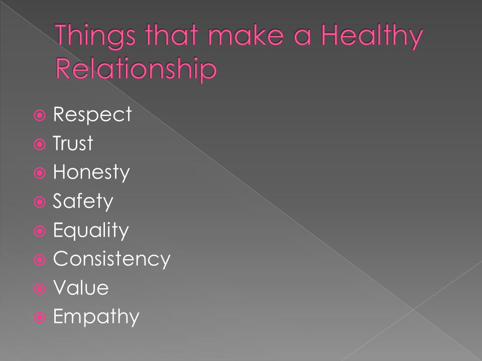 Things that make a Healthy Relationship