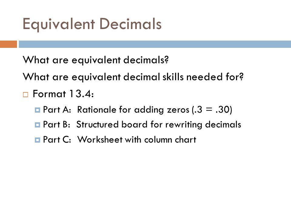 Fractions Ppt Video Online Download. Equivalent Decimals What Are. Worksheet. Dividing Decimals Adding Zeros Worksheet At Mspartners.co