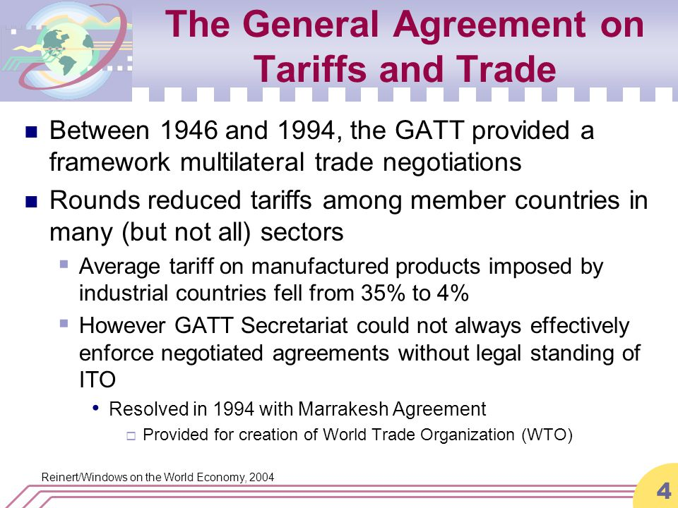 The World Trade Organization Ppt Download