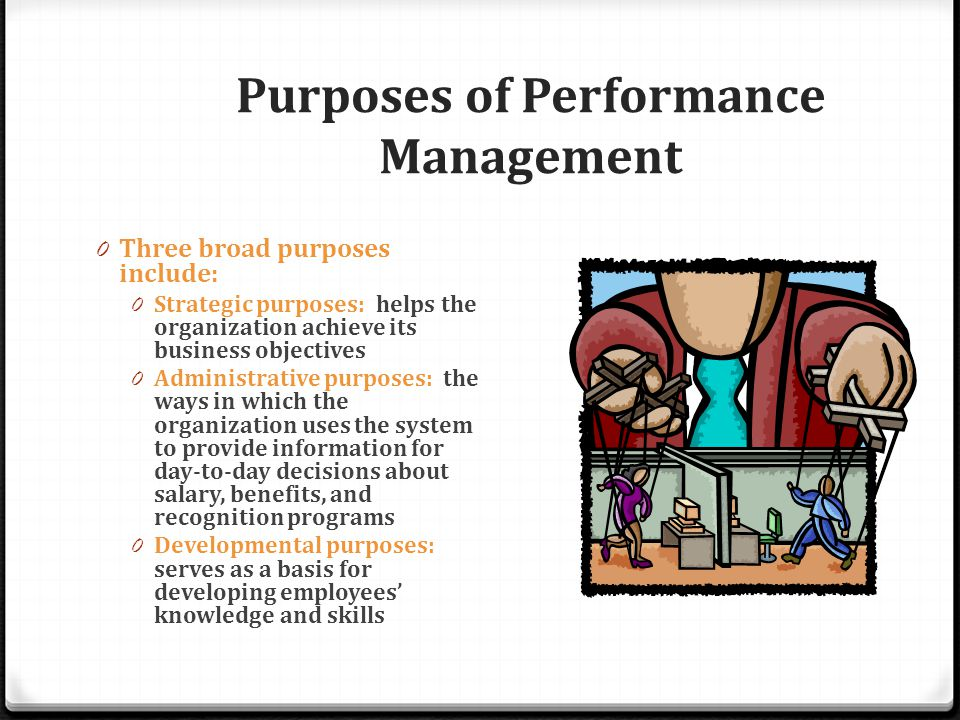 administrative purpose of performance management