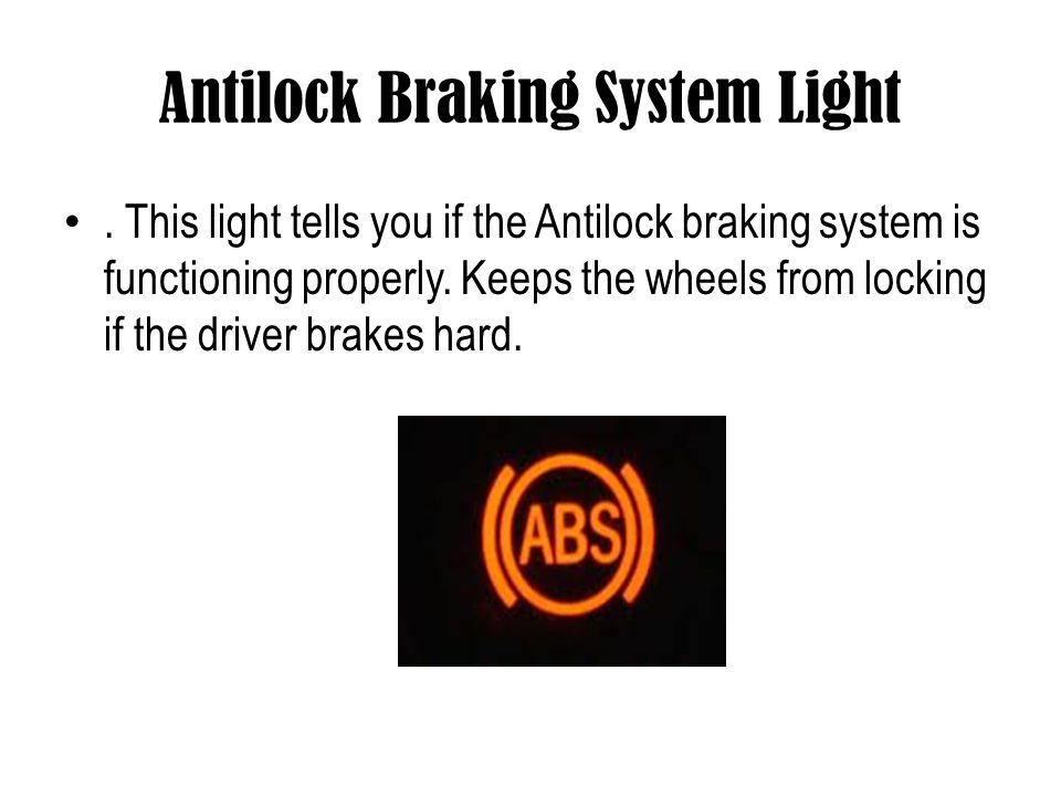 Antilock Braking System Light