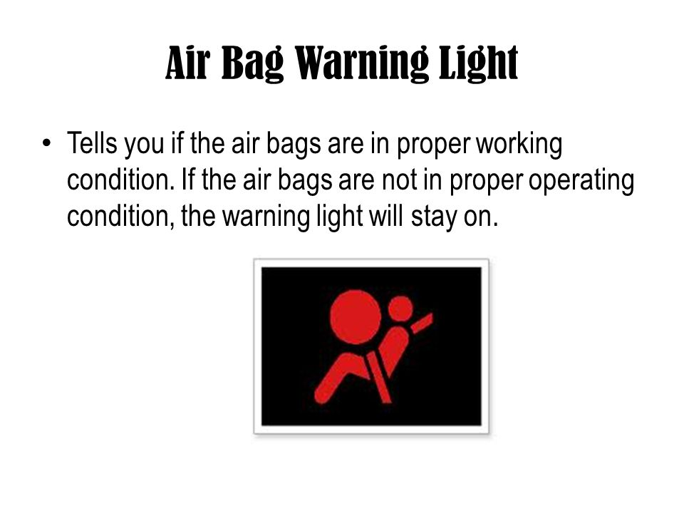 Air Bag Warning Light